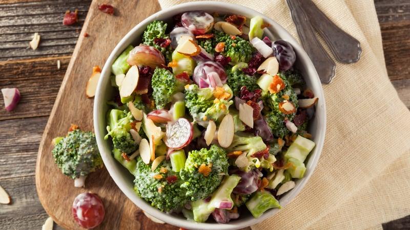Creamy broccoli salad recipe yum