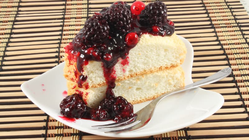 Delicious angel food cake yum