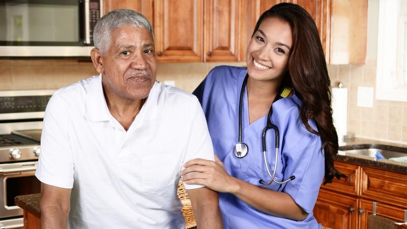 Man receiving Home Health Care