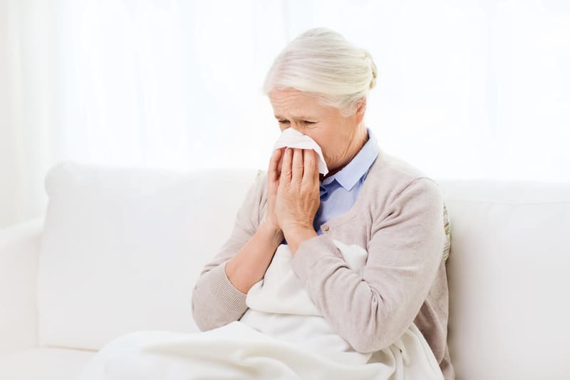 Senior Coughing Mold