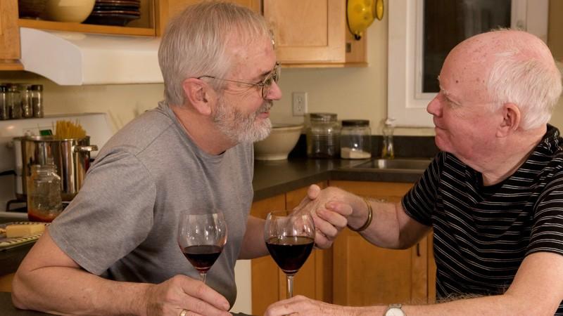 A couple of LGBTQ Seniors