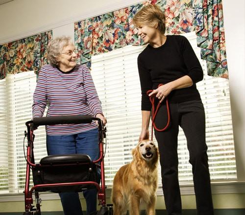 visiting a retirement community