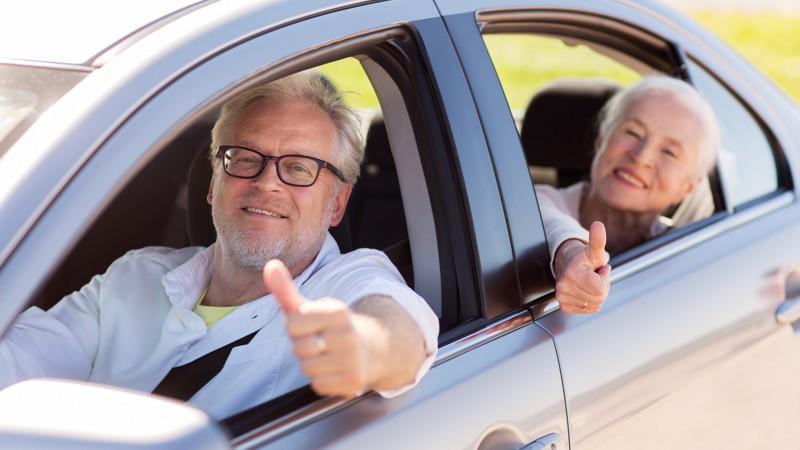 Senior Road Trip on a long car ride