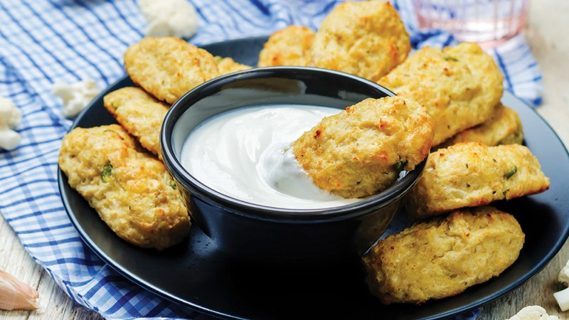 Baked cauliflower Tots recipe