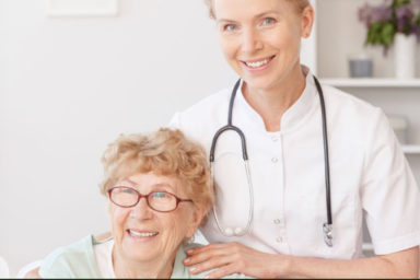 Stay Well Nurse with senior woman