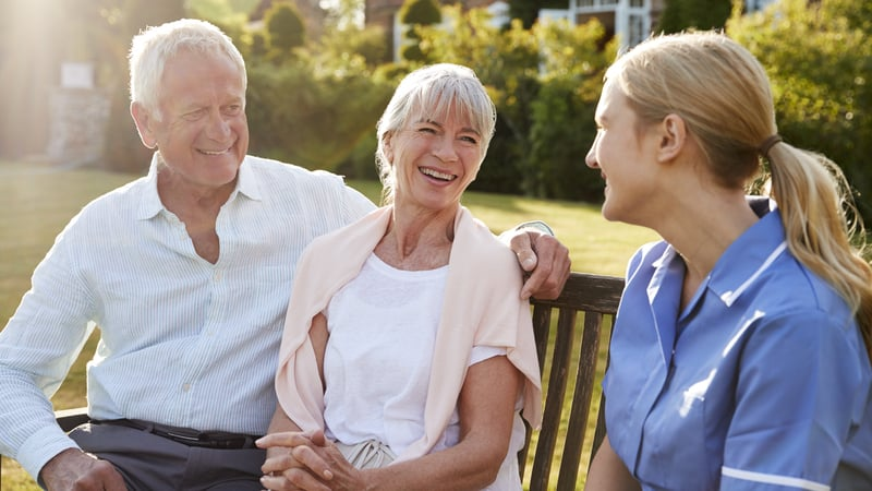 Senior couple at a Continuing Care Retirement Community CCRC