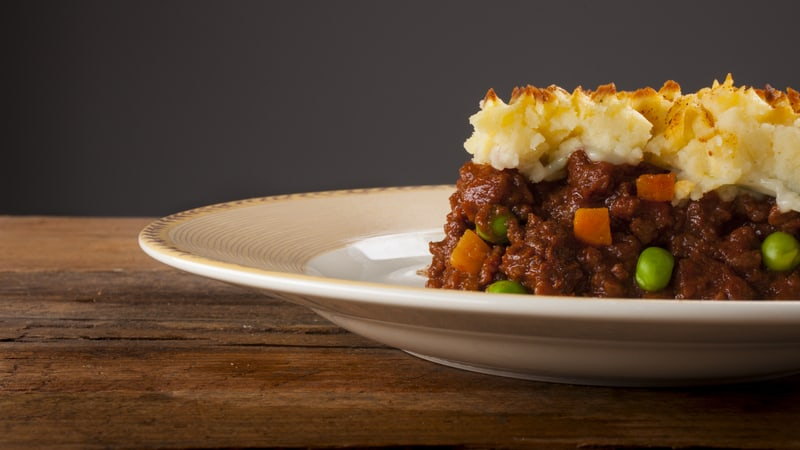 Shepherds Pie made from ingredients from the pantry