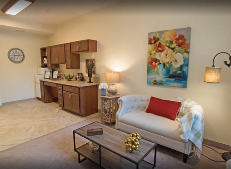 Hellenic Senior Living Resident Living Room