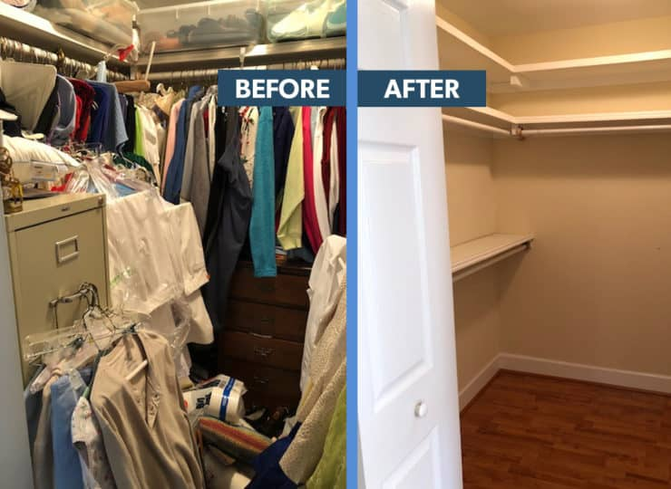 Make It Home Before After Closet