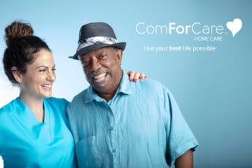 ComForCare Caregiver with Senior Gentleman