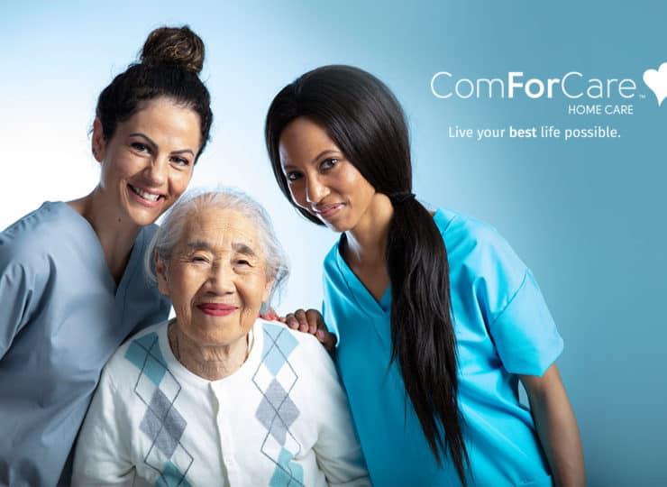 ComForCare Caregivers with Senior lady