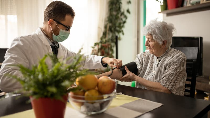 Assisted living nurse taking special protocols due to COVID-19