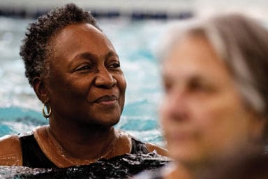 YMCA Of Greater Indianapolis Lady Smiling In The Swimming Pool