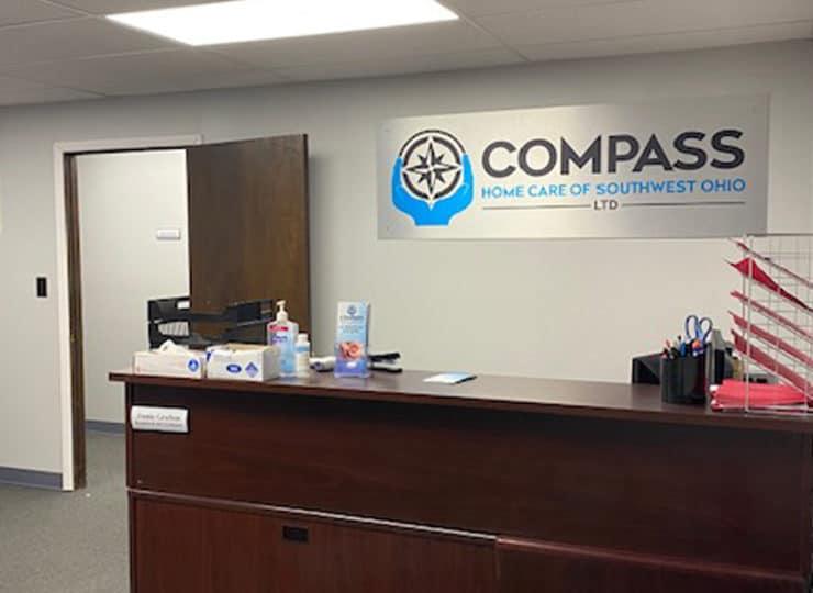 Compass Home Care Reception Desk