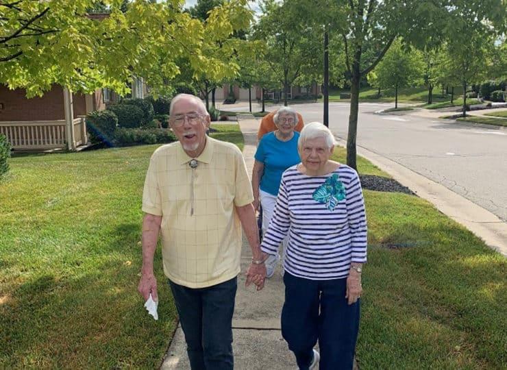 Sycamore Glen Retirement Community Residents Walking