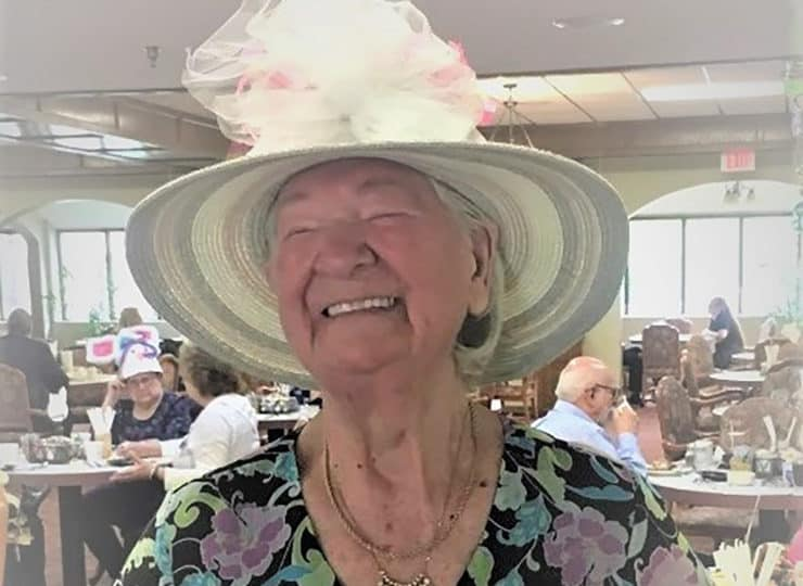 Sycamore Glen Retirement Resident In Hat