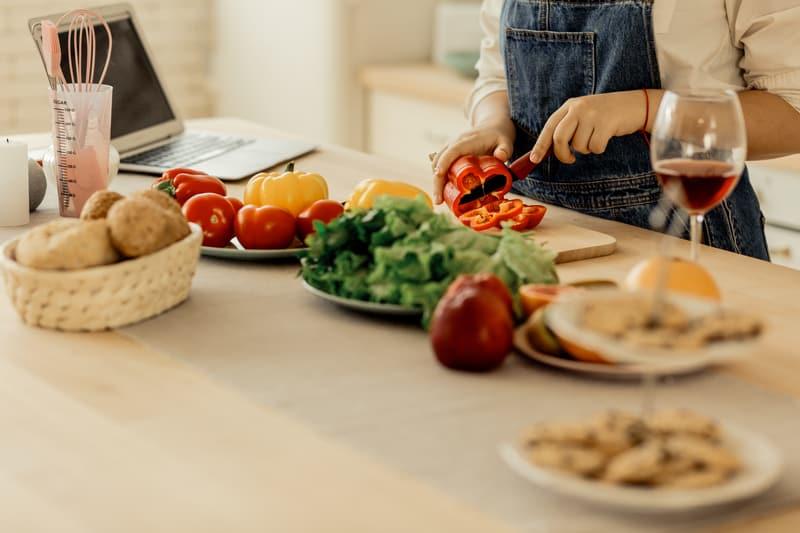 Family virtual holiday celebration eating together