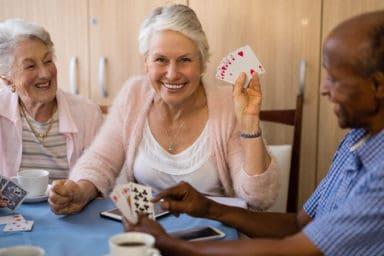 Some gambling seniors enjoying their senior living options