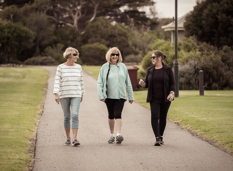 Active adult living walking club