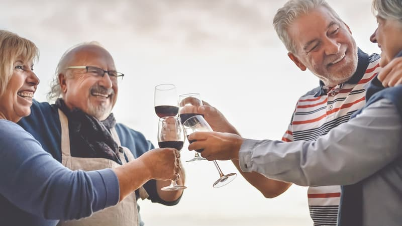 Seniors with good mental health