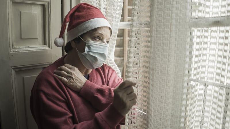 Senior suffering from seasonal affective disorder or seasonal depression