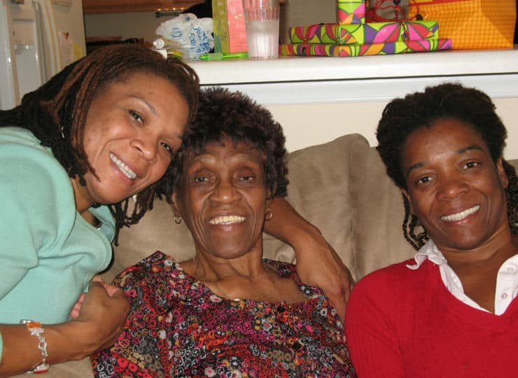 Lynns Care Homes Elderly Lady with Granddaughters