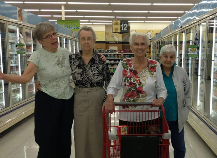 Lynns Care Homes Elderly Friends Grocery Shopping