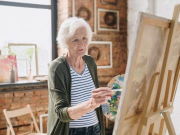 ParentCare Assisted Living Senior Lady Painting