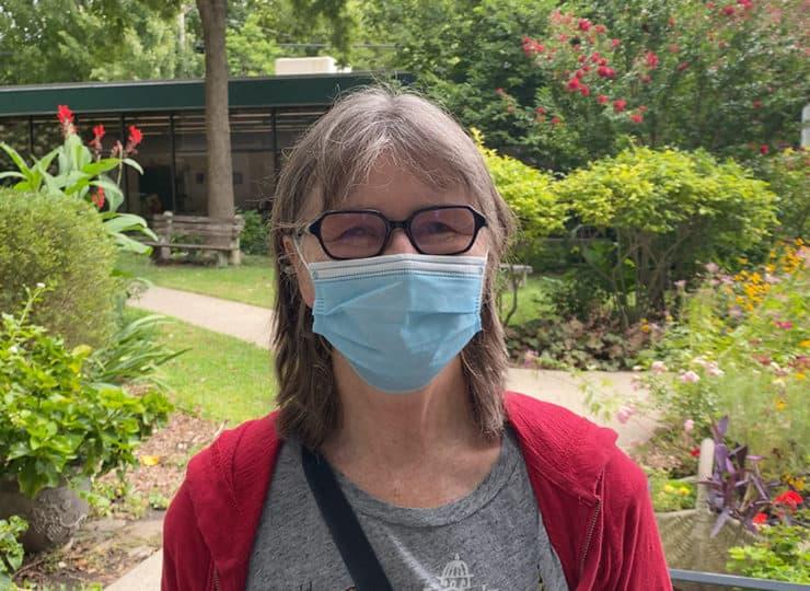 Baker Hunt Art and Cultural Center Senior Lady with Mask