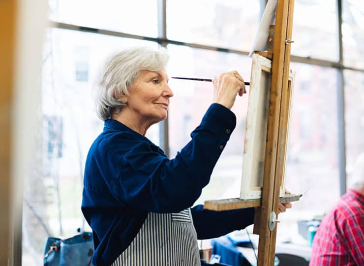 Baker Hunt Art and Cultural Center Senior Woman Painting