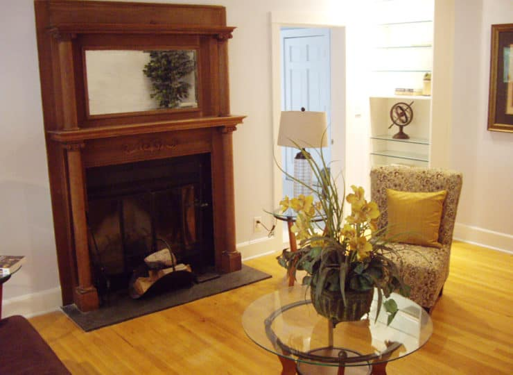 Live Well Living Room with Fireplace