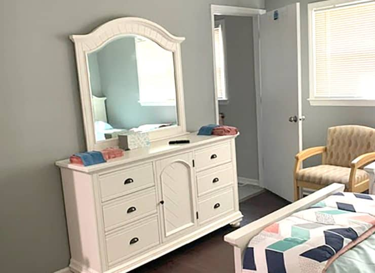 Springdaile Assisted Living Bedroom with Vanity