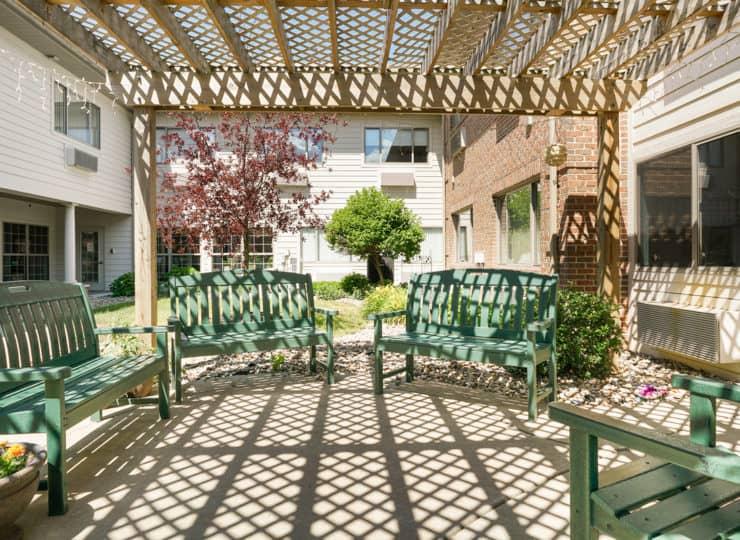 Rittenhouse Village at Michigan City patio