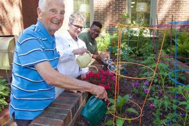 Commonwealth Senior Living Ballentine Friends Gardening
