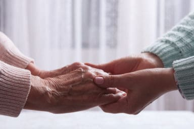 Shriveled hands is one of the signs your parent needs a guardianship