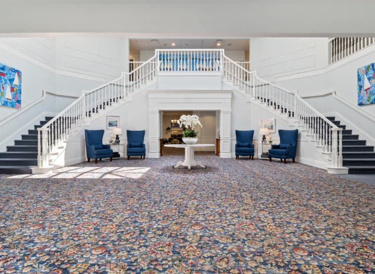 Serenity at Brewster lobby staircase