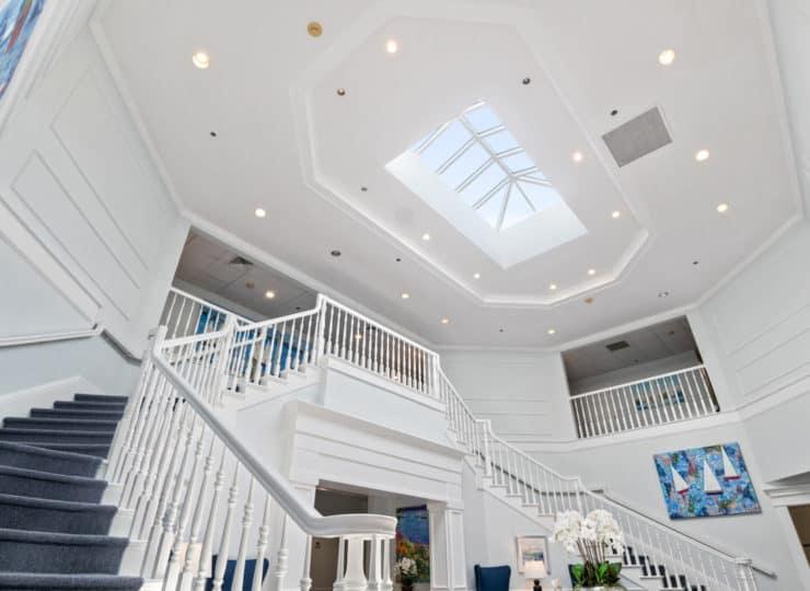 Serenity at Brewster lobby skylight