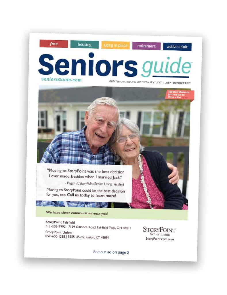 Seniors Guide Cincinnati and North Kentucky magazine cover