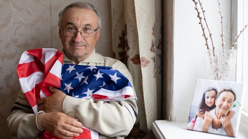 Man receiving veterans assistance for senior living