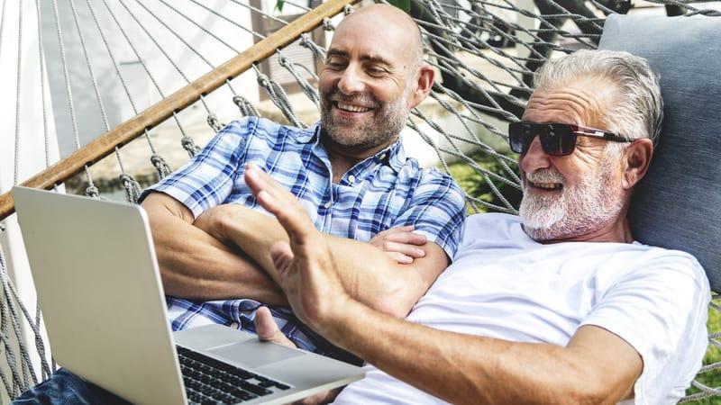Senior men seeking LGBTQ-friendly senior communities