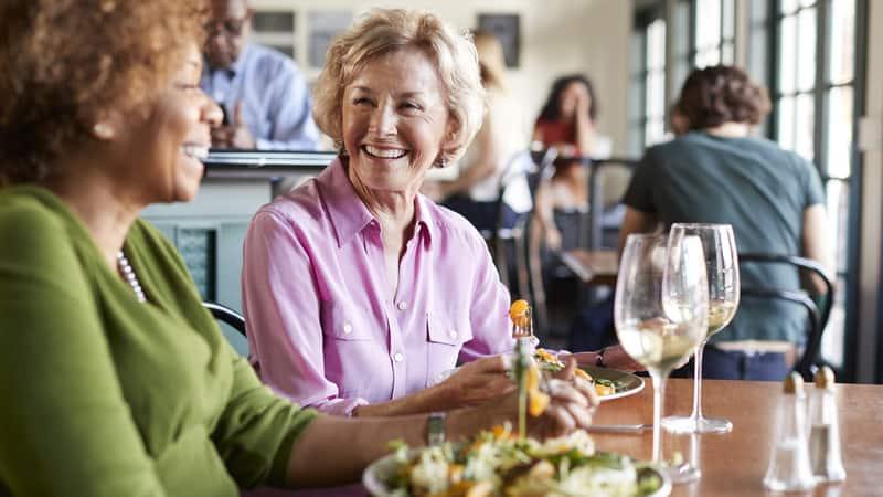 Senior discounts at a restaurant