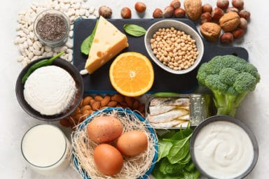 A whole bunch of foods to prevent osteoporosis