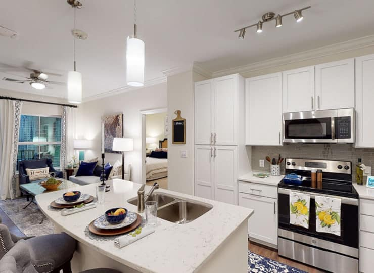 Cambridge at Brier Creek Raleigh Living Room and Kitchen