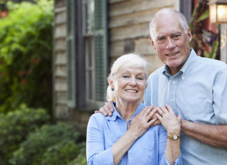 Make It Home Elderly Couple Outside House