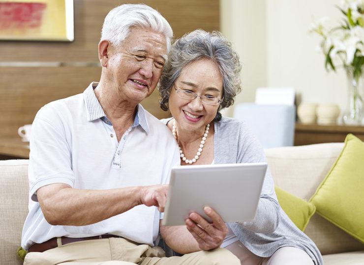 Make It Home Elderly Couple on Laptop
