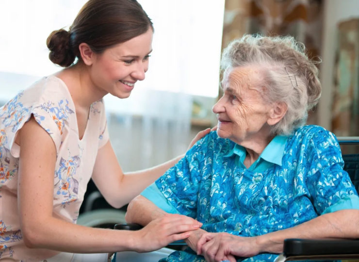 Grace Care Solutions Caregiver with Elderly Lady