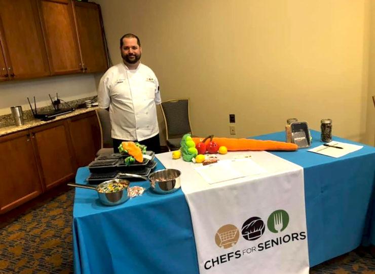 Chefs For Seniors Zack Trade Show Table