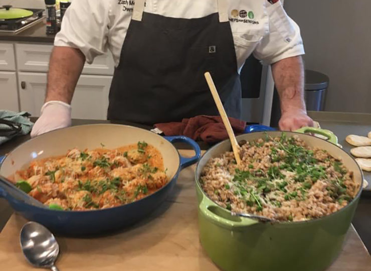 Chefs For Seniors Dishes of Food