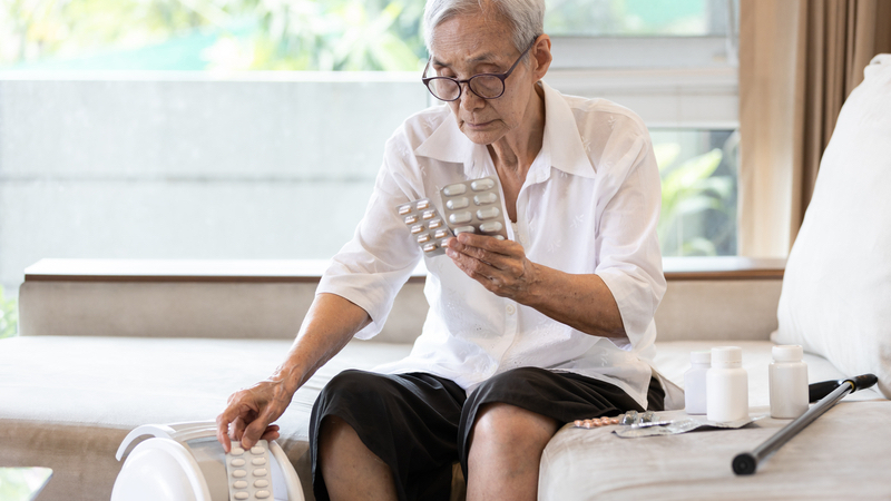 This senior man knows how to dispose of medication