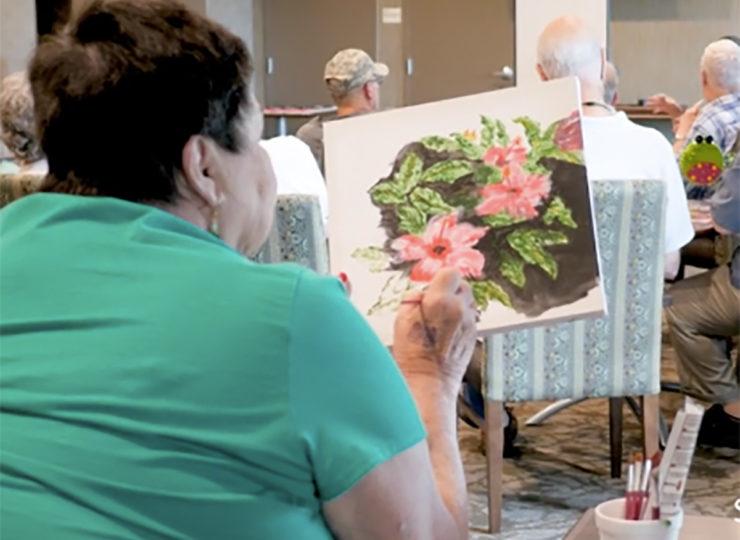 Traditions at Reagan Park Lady Painting